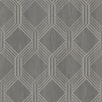 Colmar Charcoal Geo Lattice