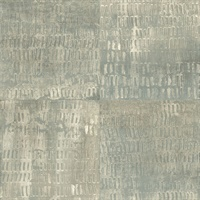 Conundrum Sage Faux Metal Wallpaper
