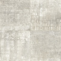 Conundrum Silver Faux Metal Wallpaper