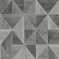 Corin Grey Wood Geometric Wallpaper