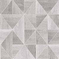 Corin Light Grey Wood Geometric Wallpaper