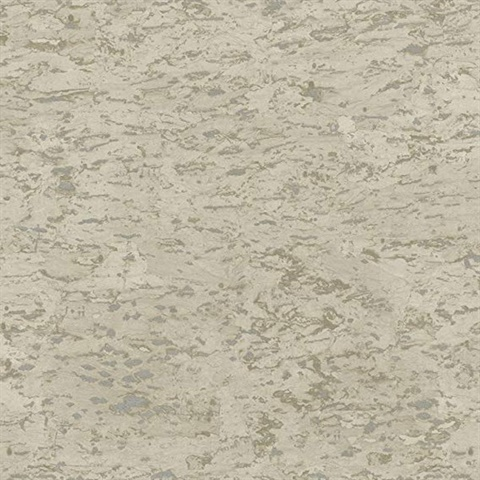 Cork Effect Taupe Wallpaper