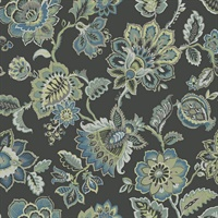 Corona Multicolor Jacobean Wallpaper