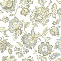 Corona Mustard Jacobean Wallpaper