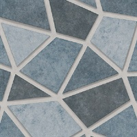 Coty Blue Mosaic Wallpaper