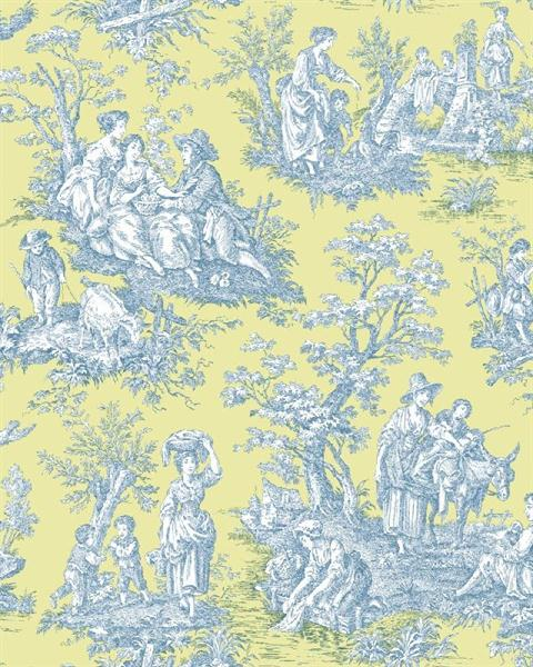 WA7833 Waverly Classics Blue And Yellow Country Life