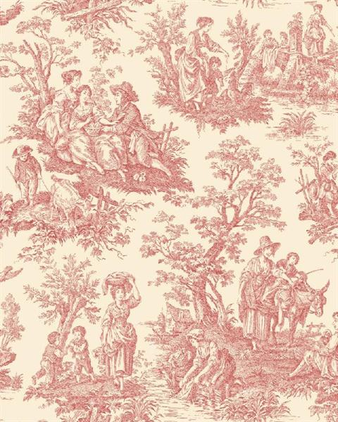 WA7829 Waverly Classics Red And White Country Life