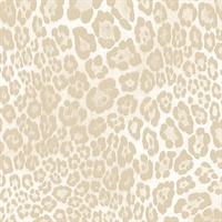 Cream Leopard Skin Wallpaper