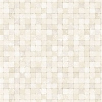 Cream Textured Tiles Wallpaper