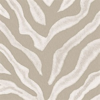 Cream Zebra Print Wallpaper