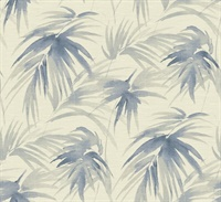 Darlana Blue Grasscloth Wallpaper