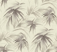 Darlana Pewter Grasscloth Wallpaper