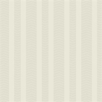 Ashford House Dart Stripe Wallpaper - Beige
