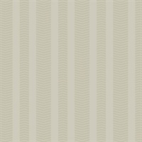 Ashford House Dart Stripe Wallpaper - Taupe