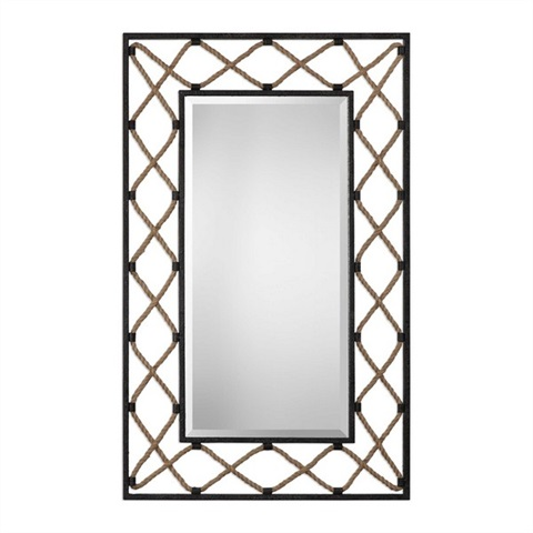 Darya Nautical Rope Mirror