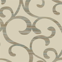 Lustrous Grasscloth Wallpaper