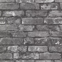 Debs Grey Exposed Brick Wallpaper