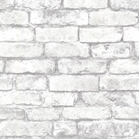 Debs White Exposed Brick Wallpaper