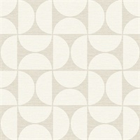 Deedee Beige Geometric Faux Grasscloth Wallpaper