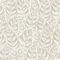 Del Mar Beige Botanical Wallpaper