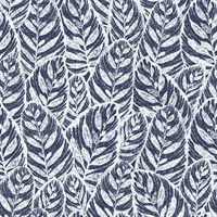 Del Mar Indigo Botanical Wallpaper