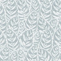 Del Mar Light Blue Botanical Wallpaper