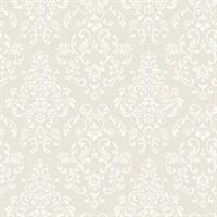 Modern Delicate Document Damask