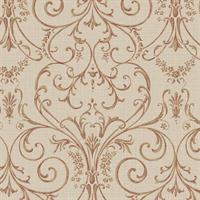 Delicate Scroll Damask