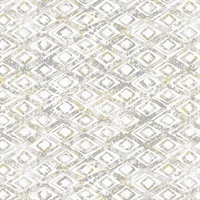Delilah Taupe Diamond Wallpaper
