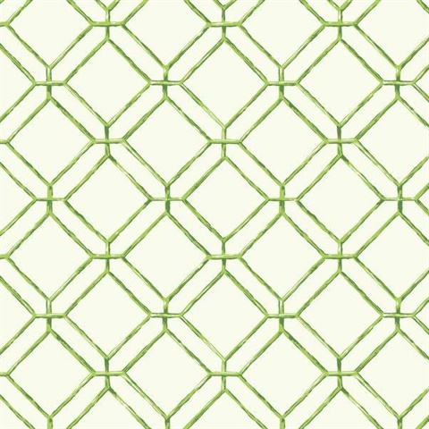 Lime Diamond Bamboo Wallpaper