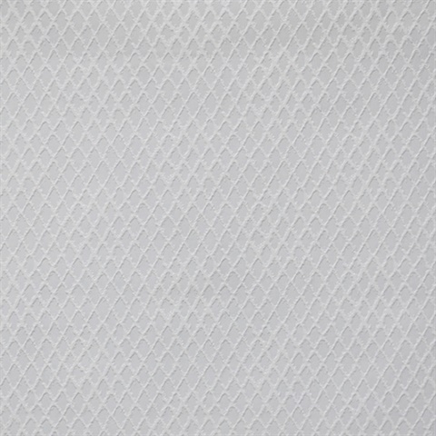 Diamond Trellis Paintable Wallpaper - White