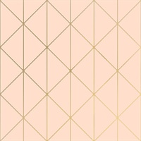 Diamonds Blush Geometric Wallpaper