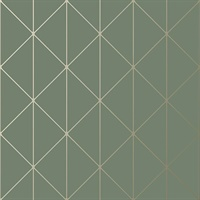 Diamonds Olive Geometric Wallpaper