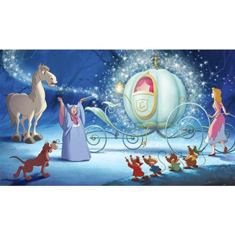 Disney Cinderella Carriage Ride Pre-Pasted Mural