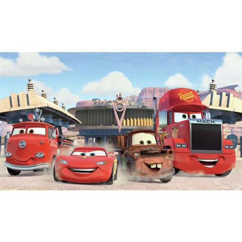Disney Pixar Cars Frriends to the Finish Pre-Pasted Mural