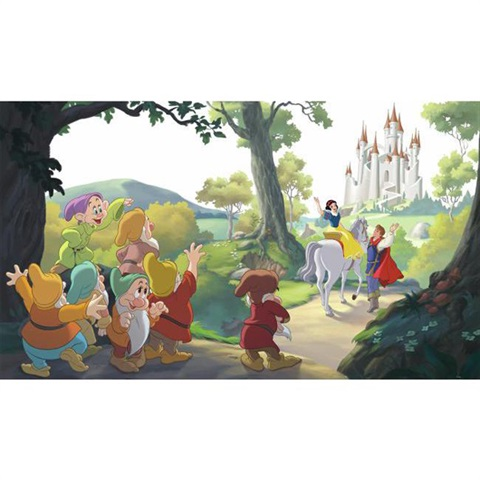 Disney Snow White Happily Ever After Pre-Pasted Mural