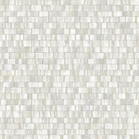 Dobby Light Grey Geometric Wallpaper