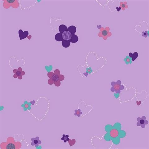 ds7680 doc mcstuffins floral totalwallcovering com