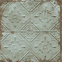 Donahue Turquoise Tin Ceiling Wallpaper
