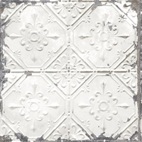 Donahue White Tin Ceiling Wallpaper