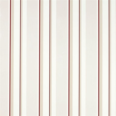 Eaton Stripe Cranberry Red