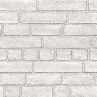 Façade Off-White Brick Wallpaper