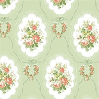 Elda Green Cameo Wallpaper