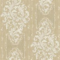 Embroidered Damask Stripe