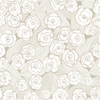 Emery Mauve Floral Wallpaper