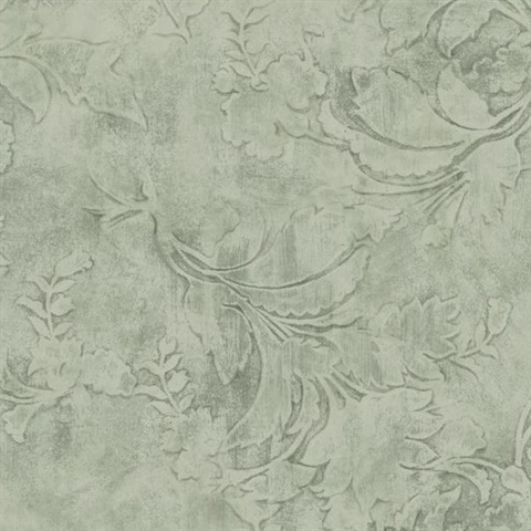 Entablature Scroll Wallpaper