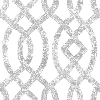 Ethereal Silver Trellis Wallpaper