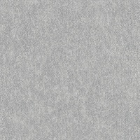 Everett Silver Distressed Textural Wallpaper