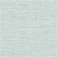 Exhale Light Blue Faux Grasscloth Wallpaper