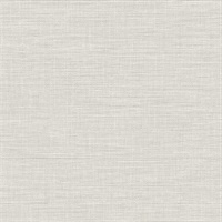 Exhale Light Grey Faux Grasscloth Wallpaper